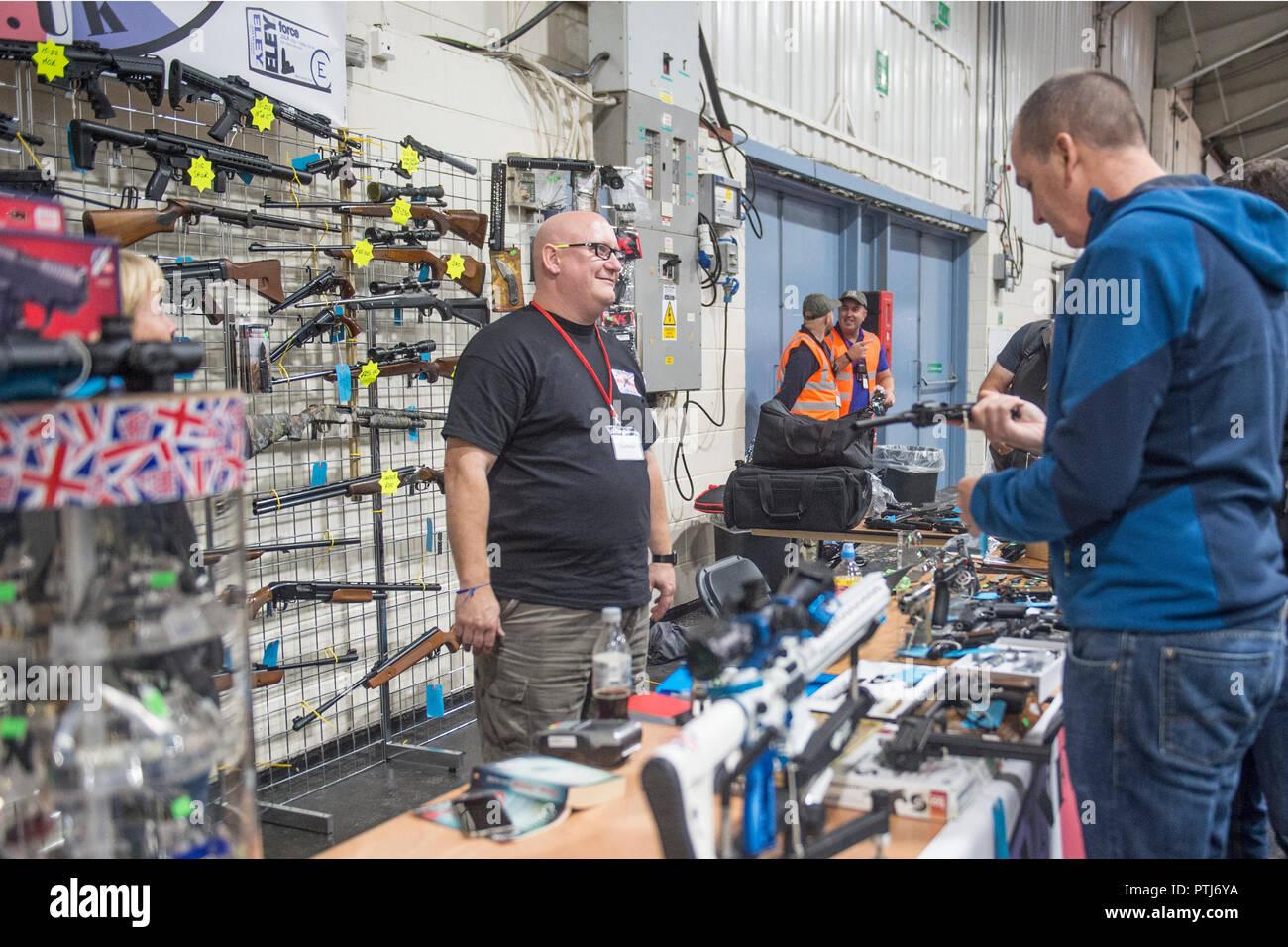 UK shooting show and gun fair - Stock Image