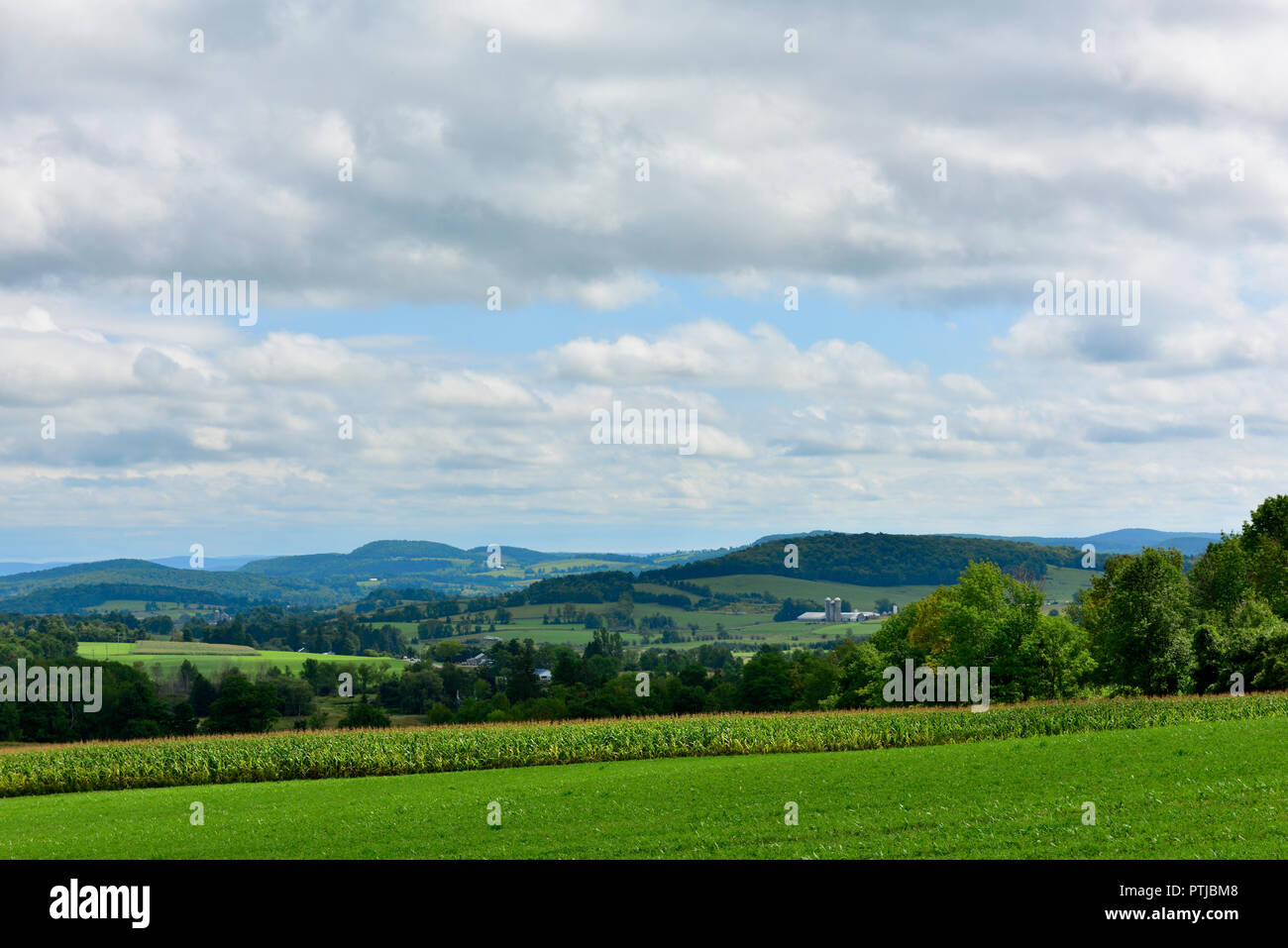 Countryside landscape near Richfield between Albany and Syracuse NY along Hwy 20, USA - Stock Image