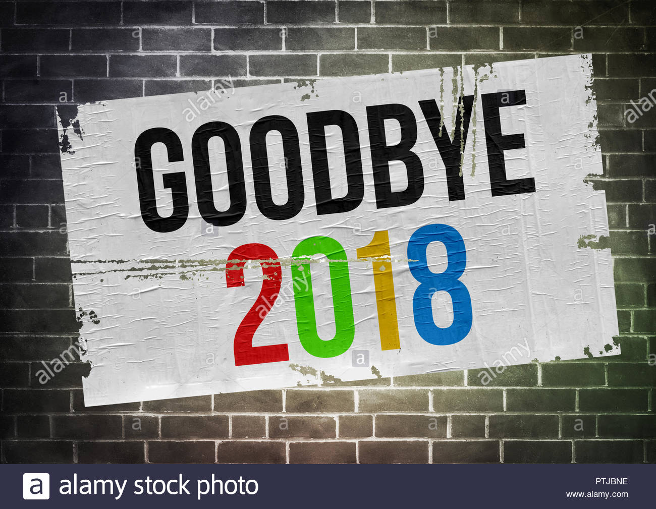 Goodbye to 2018 - Stock Image