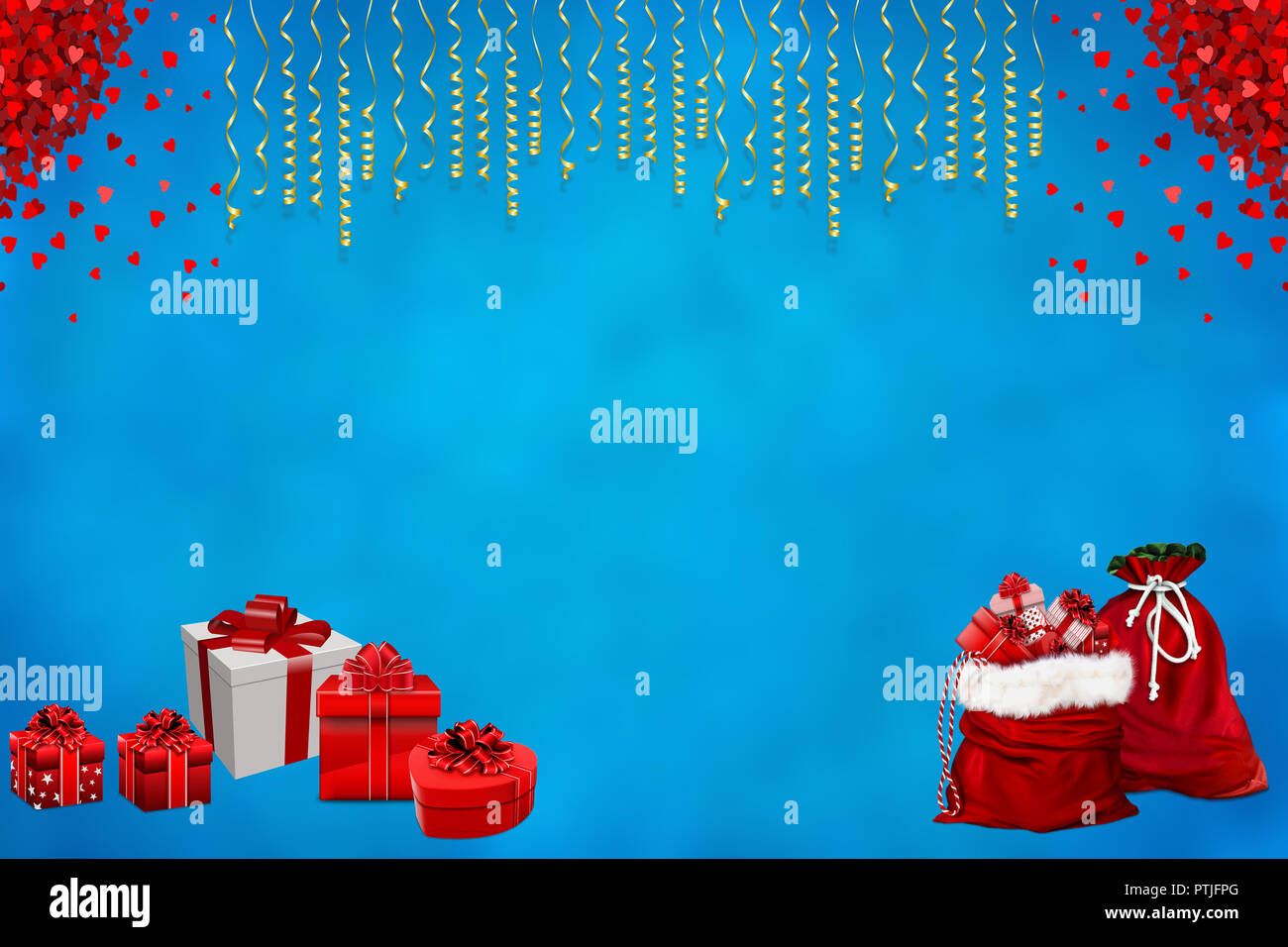 christmas and new year celebration background