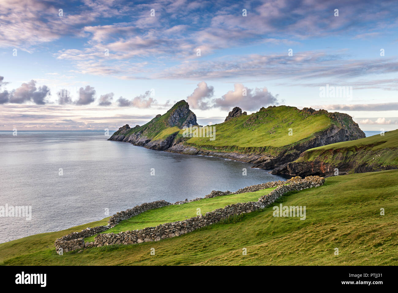 The island of Dun from Ruival on St Kilda. - Stock Image