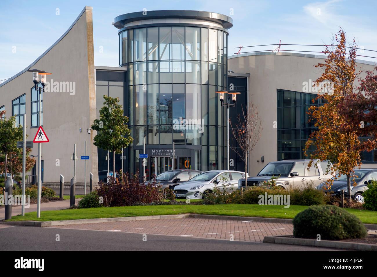 Montrose Sports Centre, Montrose, Angus, Scotland, Uk - Stock Image