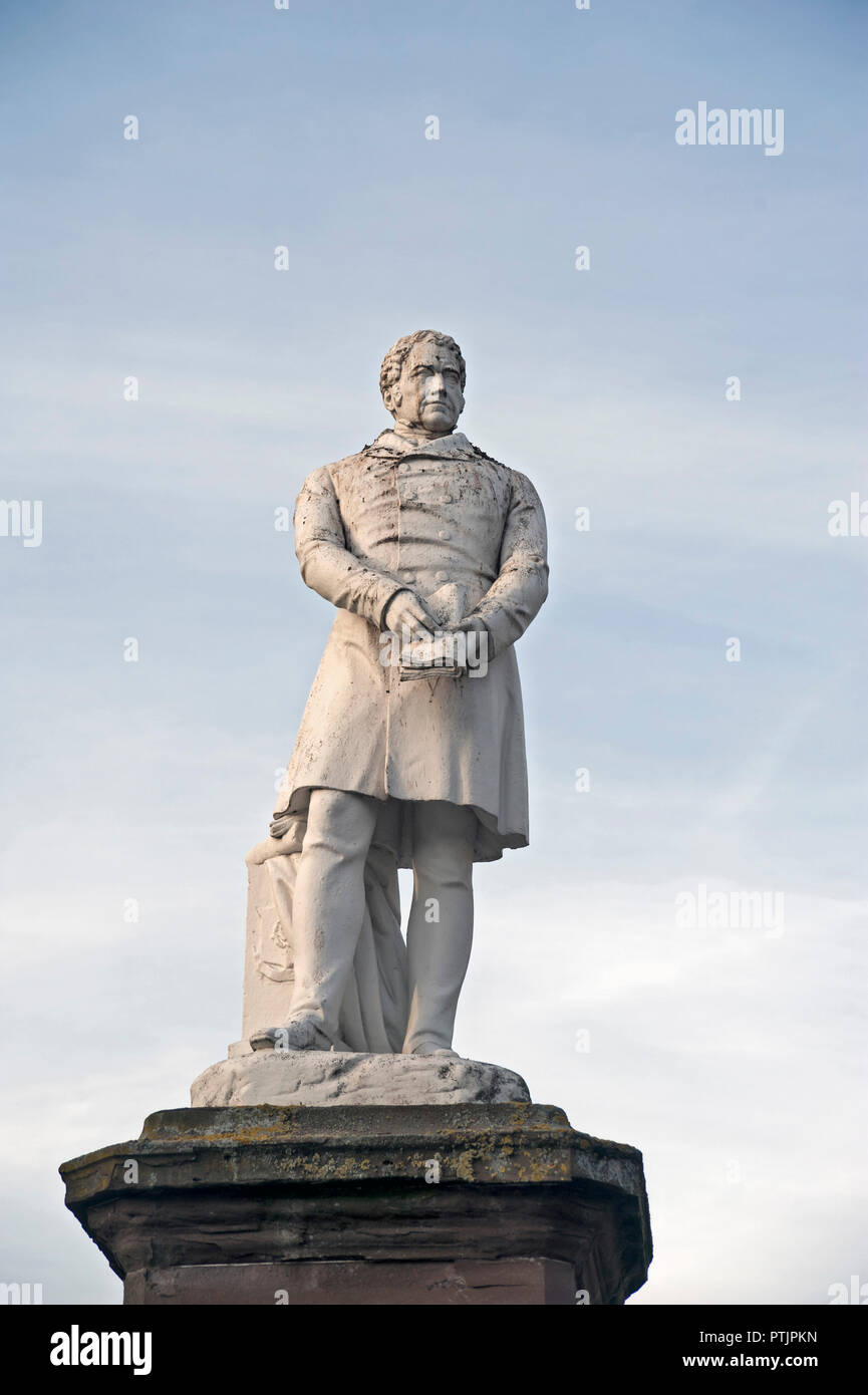 Statue of Joseph Hume born 1777 in Montrose, a previous Member of Parliament and Member of Royal College of Surgeons. - Stock Image