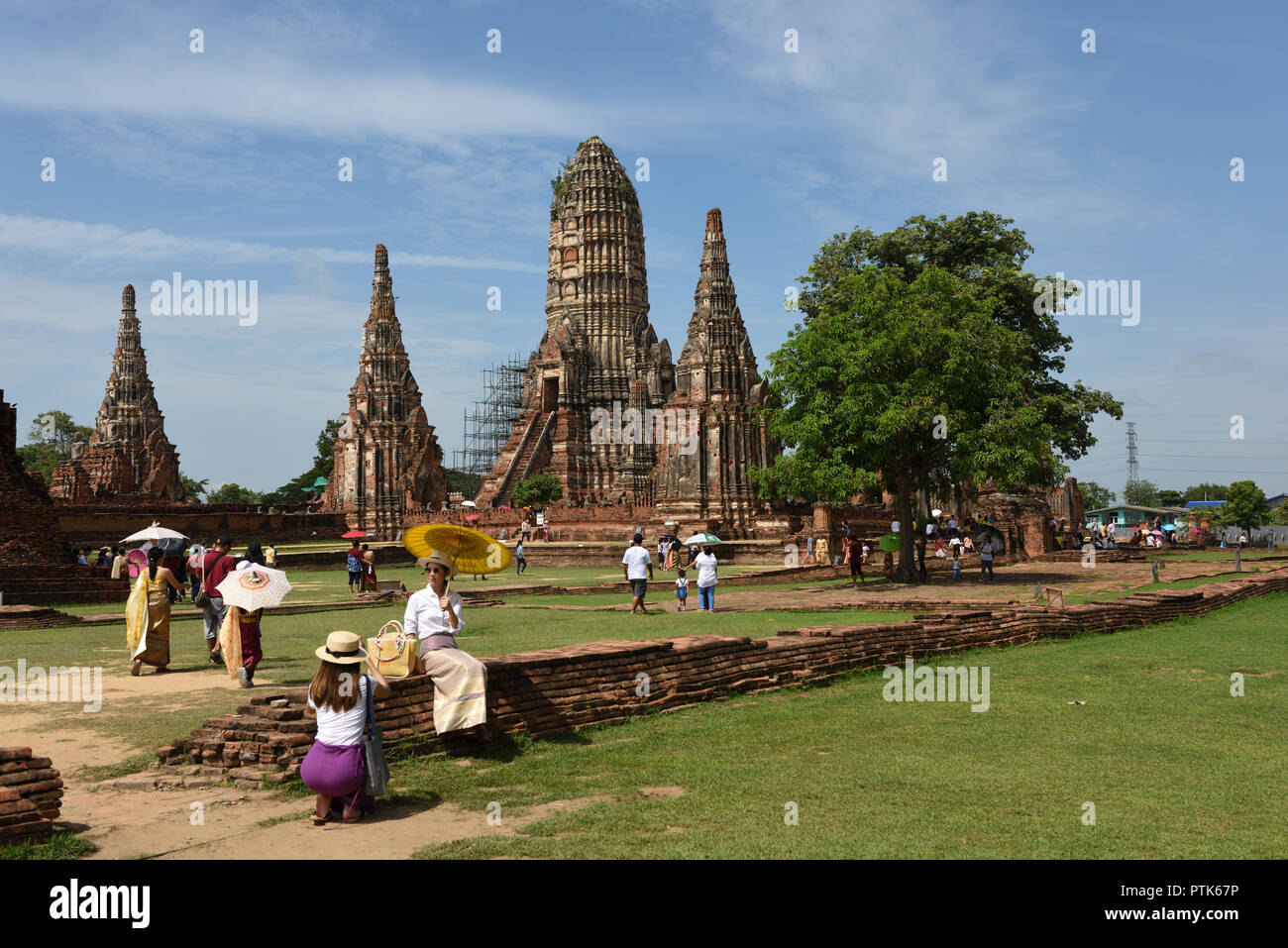 Wat Chaiwatthanaram, Ayutthaya, Thailand Stock Photo