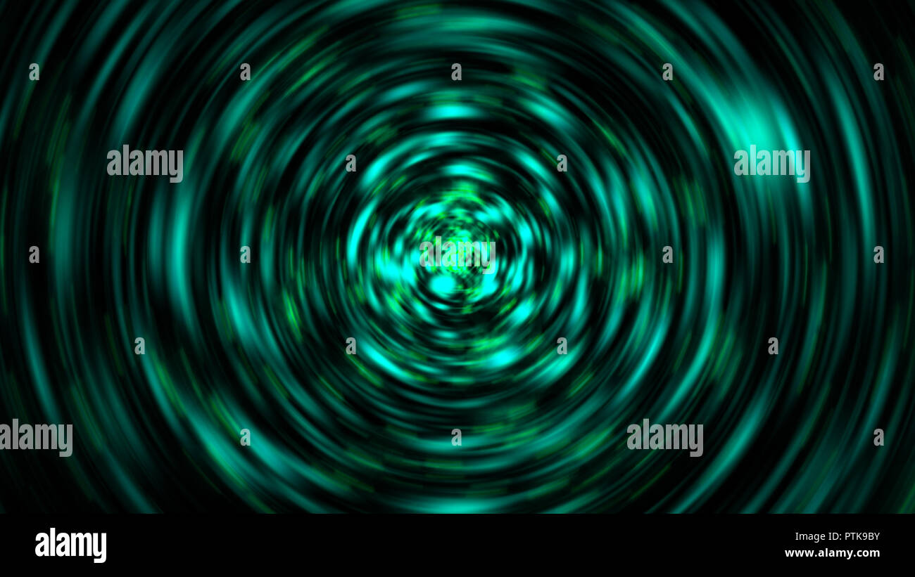 Explosion of gloss particles with radial motion blur, 3d render computer generated backdrop - Stock Image