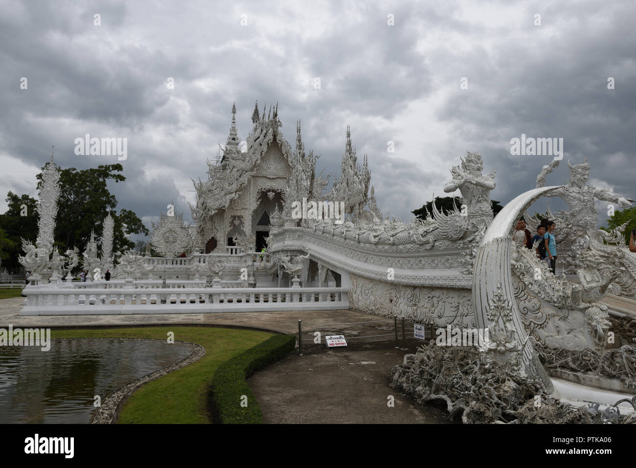 Wat Rong Khun, also known as the White Temple, Chiang Rai, Thailand Stock Photo