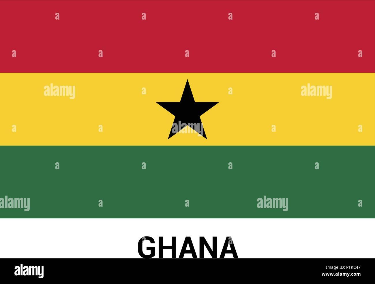 Ghana flag design vector - Stock Vector