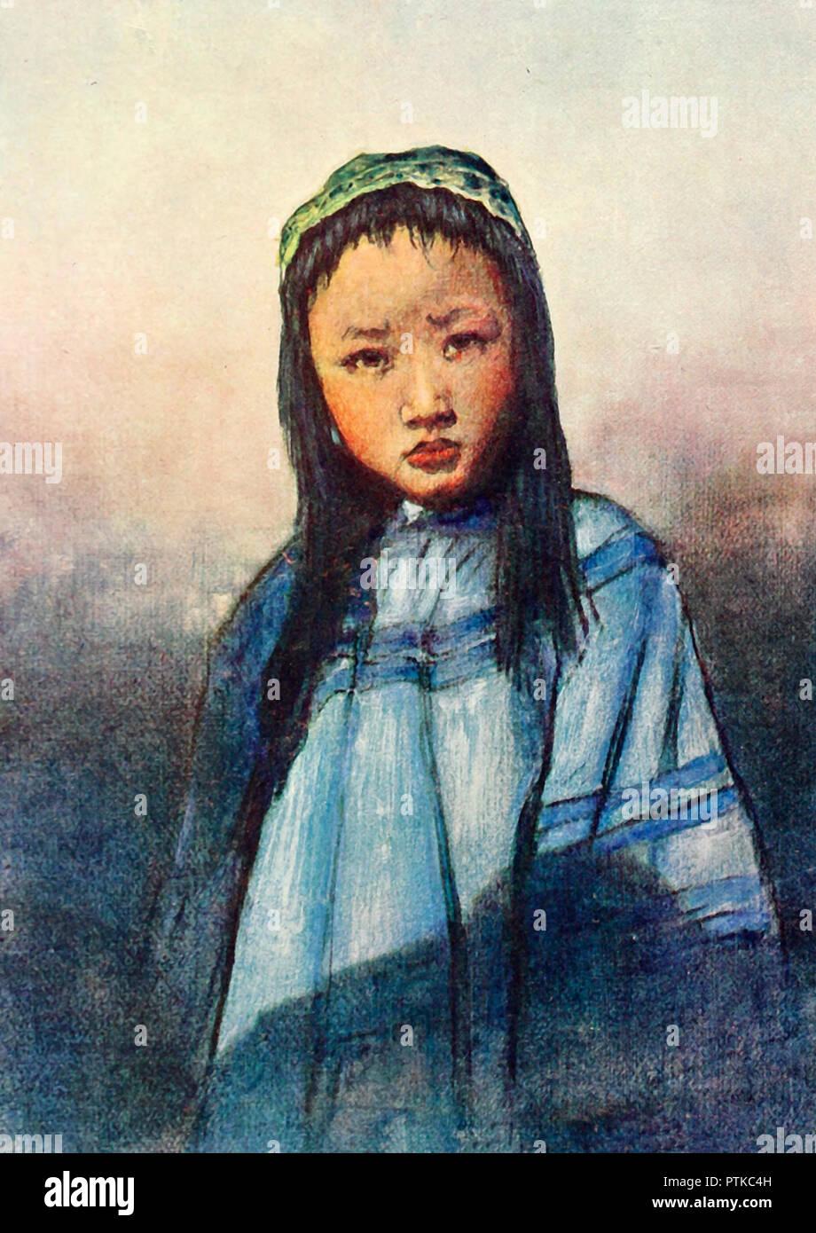 A Chinese Girl, circa 1909 - Stock Image