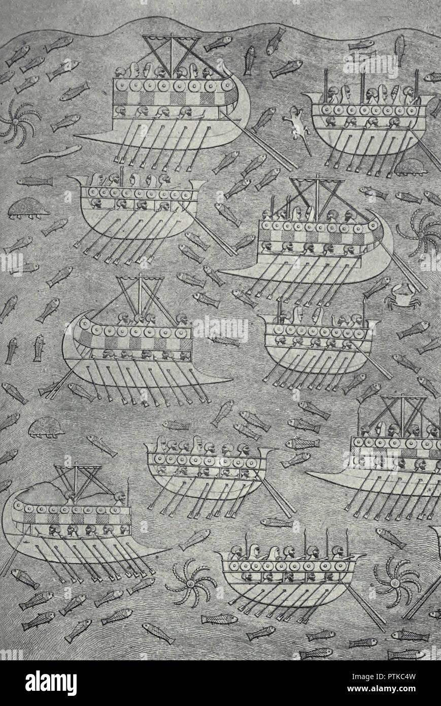 The Fleet of Sennacherib - Stock Image