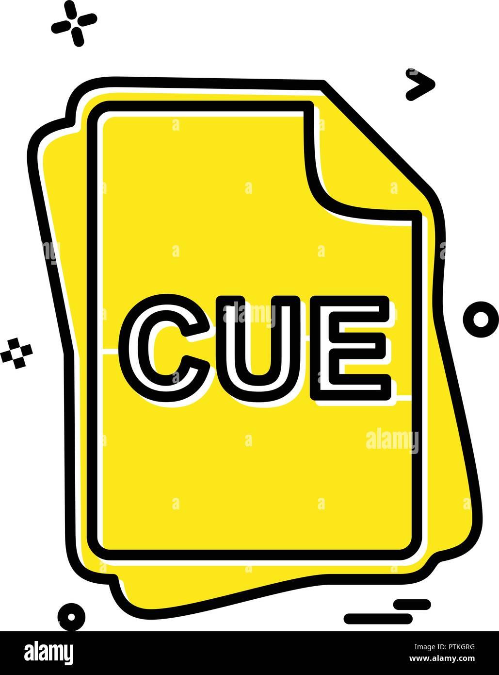 CUE file type icon design vector - Stock Vector