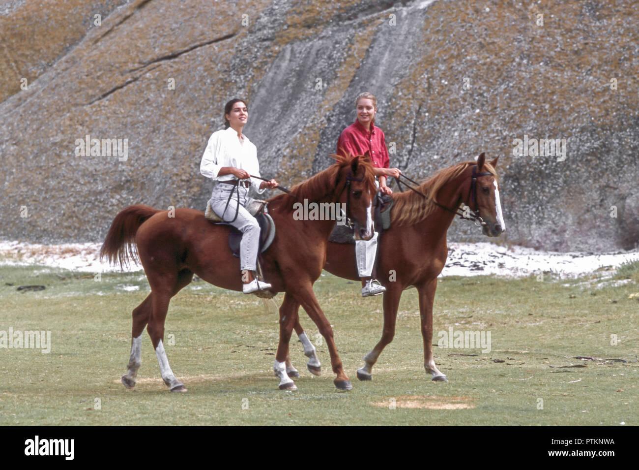 Pferde frauen und Freundin mit