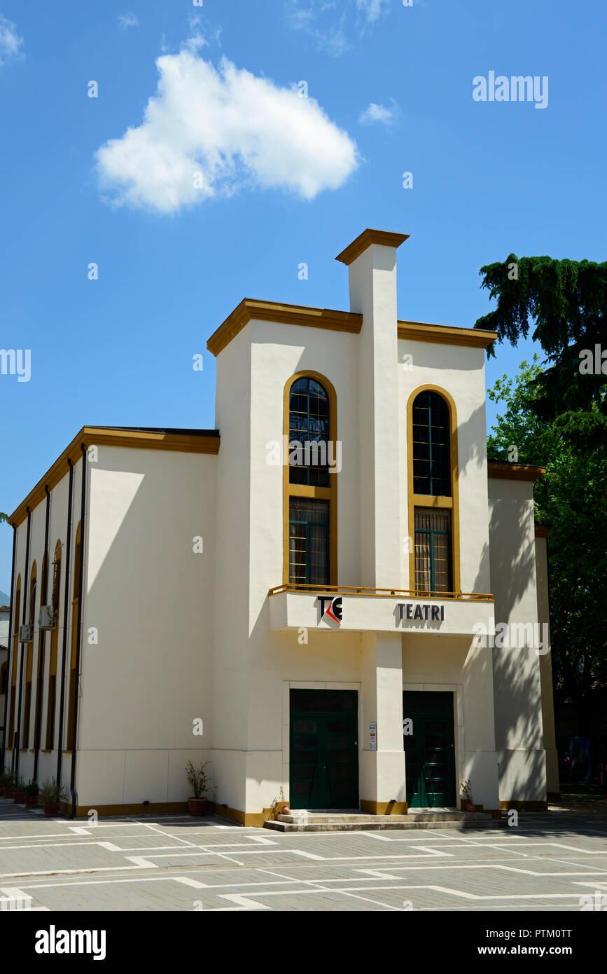 National Theatre, City Centre, Tirana, Albania - Stock Image