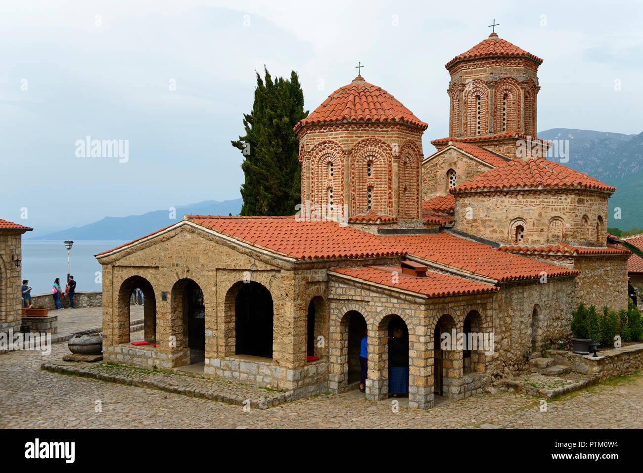 Church, monastery, Sveti Naum, Ohrid, Macedonia - Stock Image