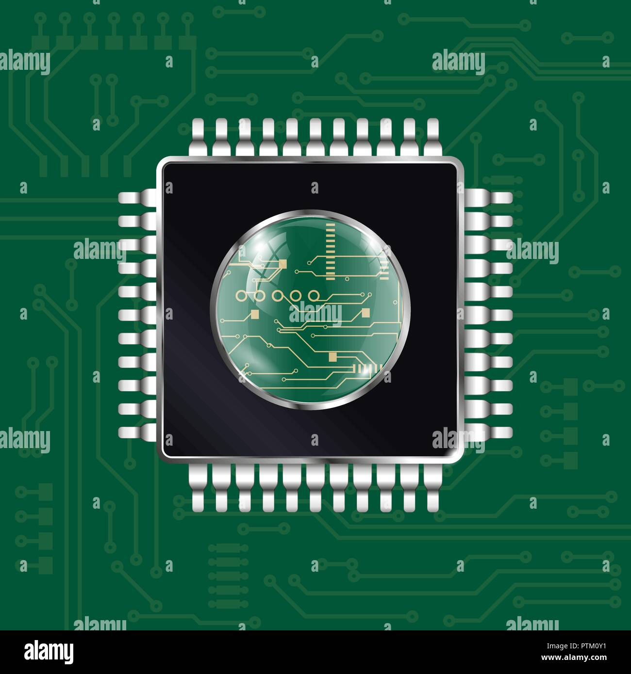 Computer chip - Stock Image