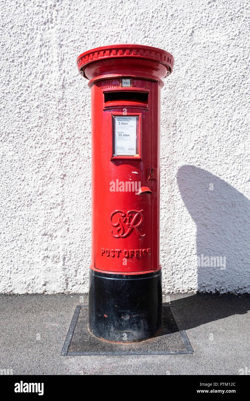 Victorian Royal Mail Mailbox, Mainland, Orkney Islands, Scotland, United Kingdom - Stock Image