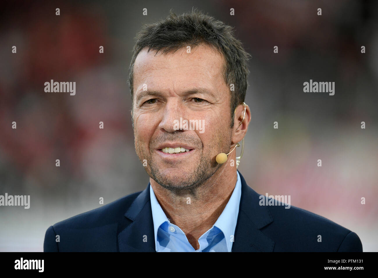 Football expert Lothar Matthäus, Mercedes-Benz Arena, Stuttgart, Baden-Württemberg, Germany Stock Photo