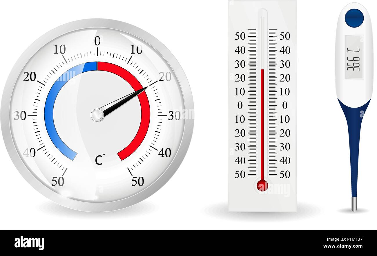 Thermometers set - Stock Vector