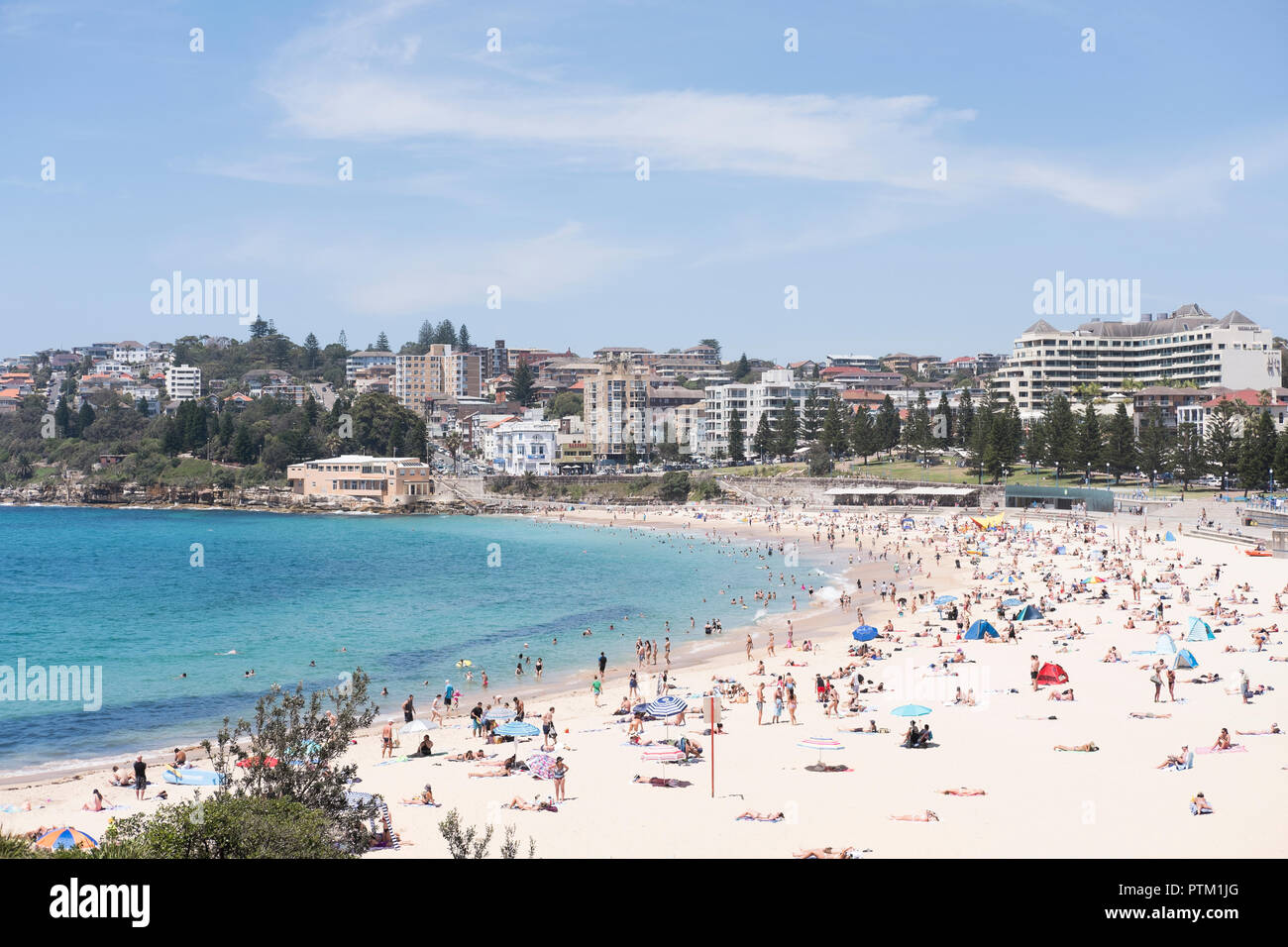 Summer at Coogee Beach. - Stock Image