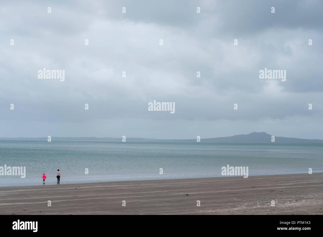 A view towards Rangitoto Island. - Stock Image