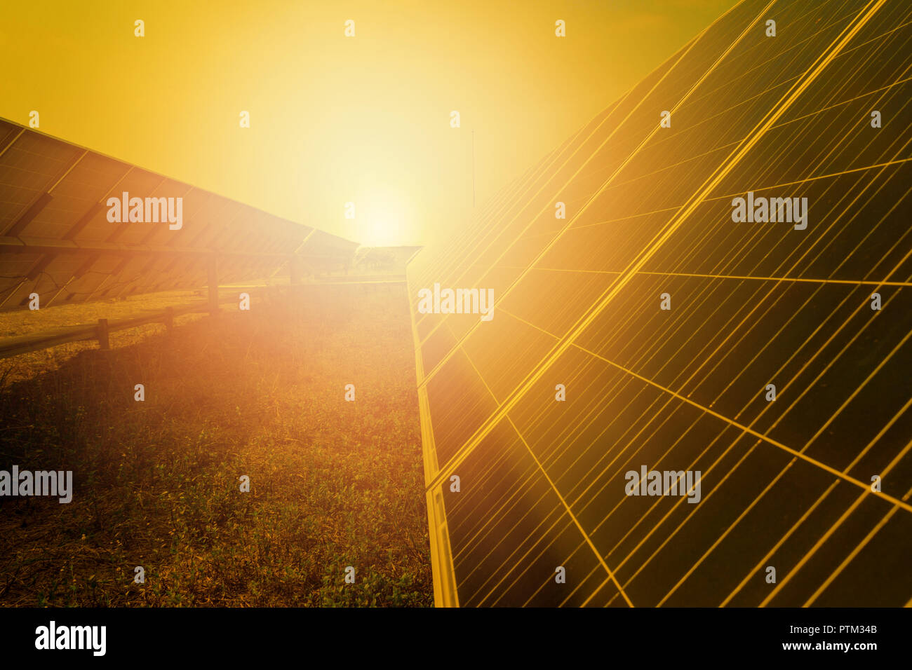 Solar panel tracking systems, Energy power in thailand. - Stock Image