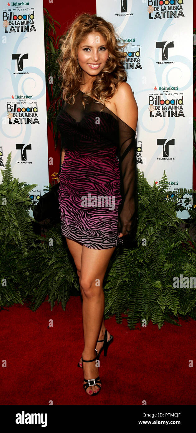 Gloria Olivera arrives on the red carpet for the 2006 Latin Billboard Awards at the Seminole Hard Rock Hotel and Casino in Hollywood, Florida on April 27, 2006. - Stock Image