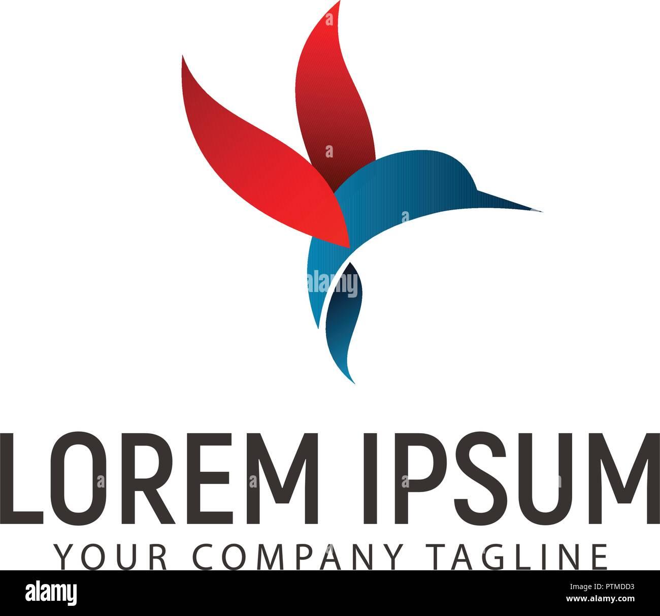 hummingbird logo design concept template stock vector art