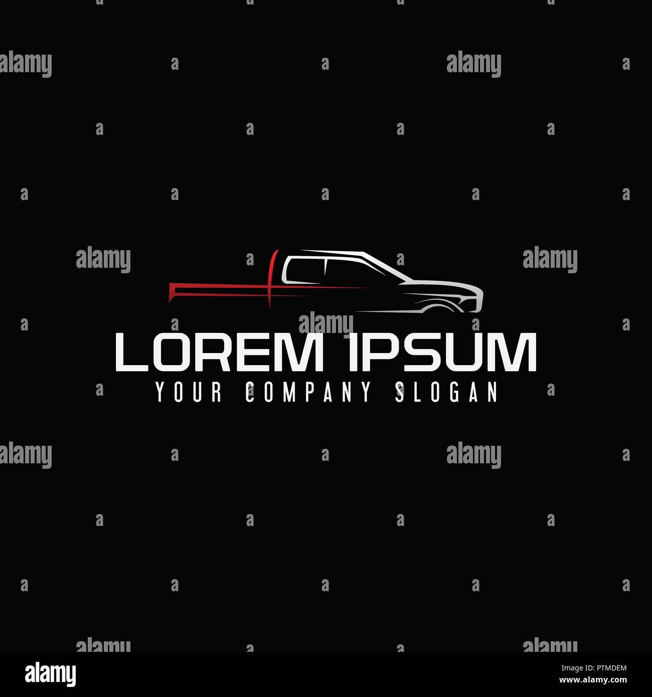 mini van auto logo design concept template Stock Vector