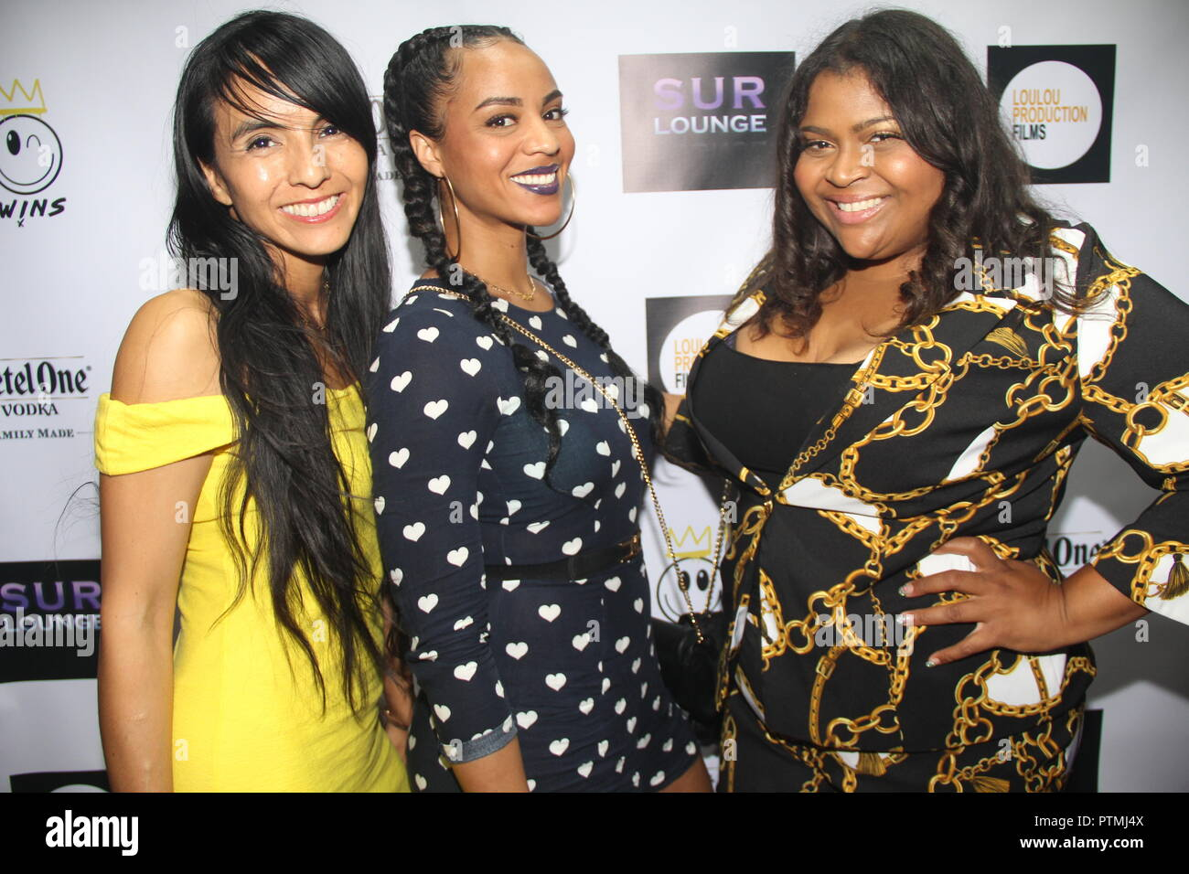 Hollywood, California, USA. 7th Oct, 2018. I16012CHW.Sony Music VIP American Music Awards Red Carpet Brunch Party at SUR West Hollywood Hosted By The EC Twins .Sur Restaurant, West Hollywood, California, USA .10/07/2018 .TRACEY BUCKNER AND GUESTS ATTEND SUR LOUNGE-SUR BRUNCH AMA PRE PARTY HOSTED BY THE EC TWINS . © Clinton H.Wallace/Photomundo International/ Photos Inc Credit: Clinton Wallace/Globe Photos/ZUMA Wire/Alamy Live News - Stock Image