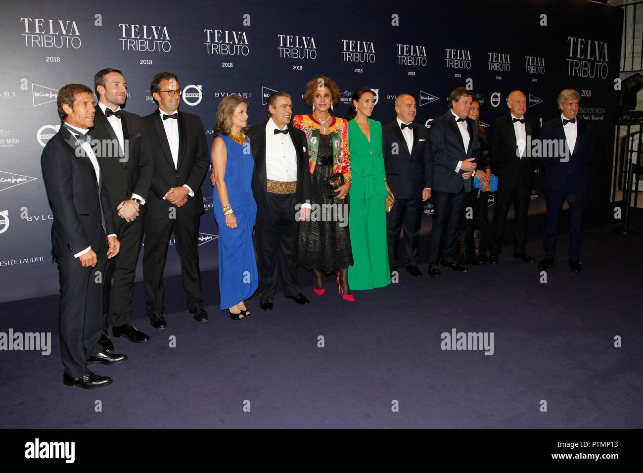 Photocall del homenaje a Naty Abascal, en Madrid. (Photo: Jose Cuesta/261/Cordon Press).   Photocall of 2 edition of Telva Tributo 2018: Una Cronica de Moda. Coleccion Nati Abascal in Madrid on Tuesday , 09 october 2018 - Stock Image