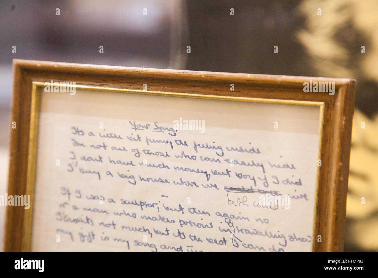 Handwritten Lyrics Stock Photos & Handwritten Lyrics Stock