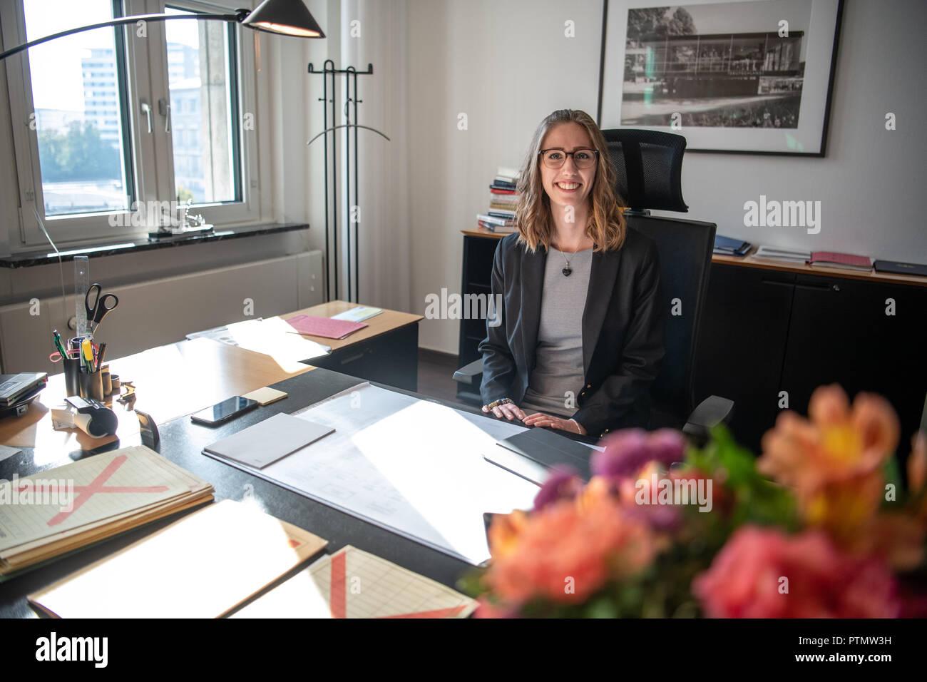 10 October 2018, Berlin: 21-year-old Celina Kühl, a student