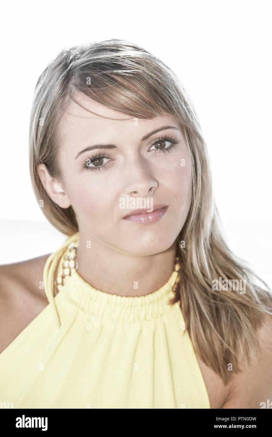Beauty Blond Blondine Jung Teenager Frau Lange Haare Sommer