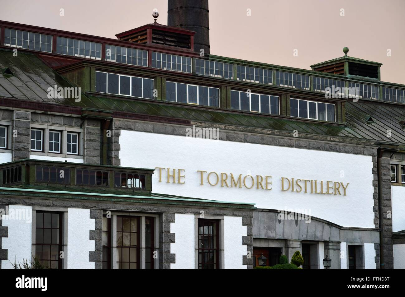 Grantown-on-Spey, Morayshire, Scotland, United Kingdom. The Tormore Distillery in the Highlands of Scotland. Tormore was founded in 1958. - Stock Image