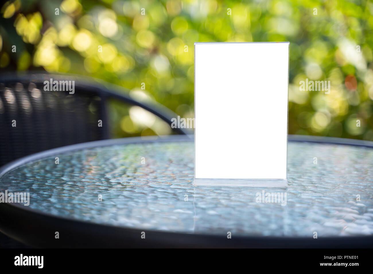 Menu background layout
