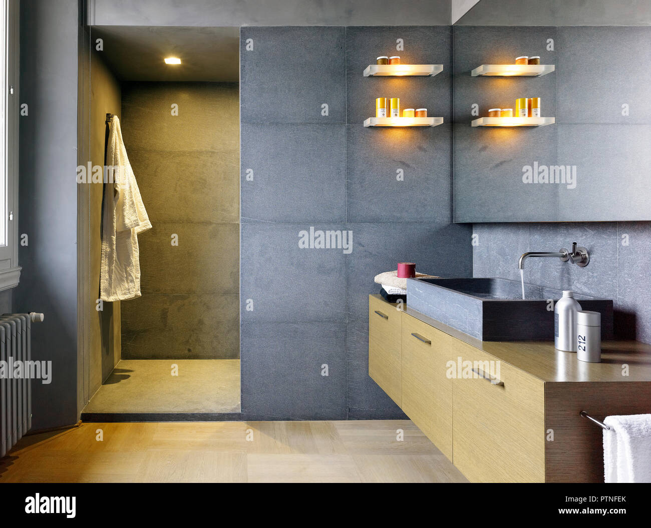 Elegant Bathroom In Italian Apartment Stock Photo Alamy