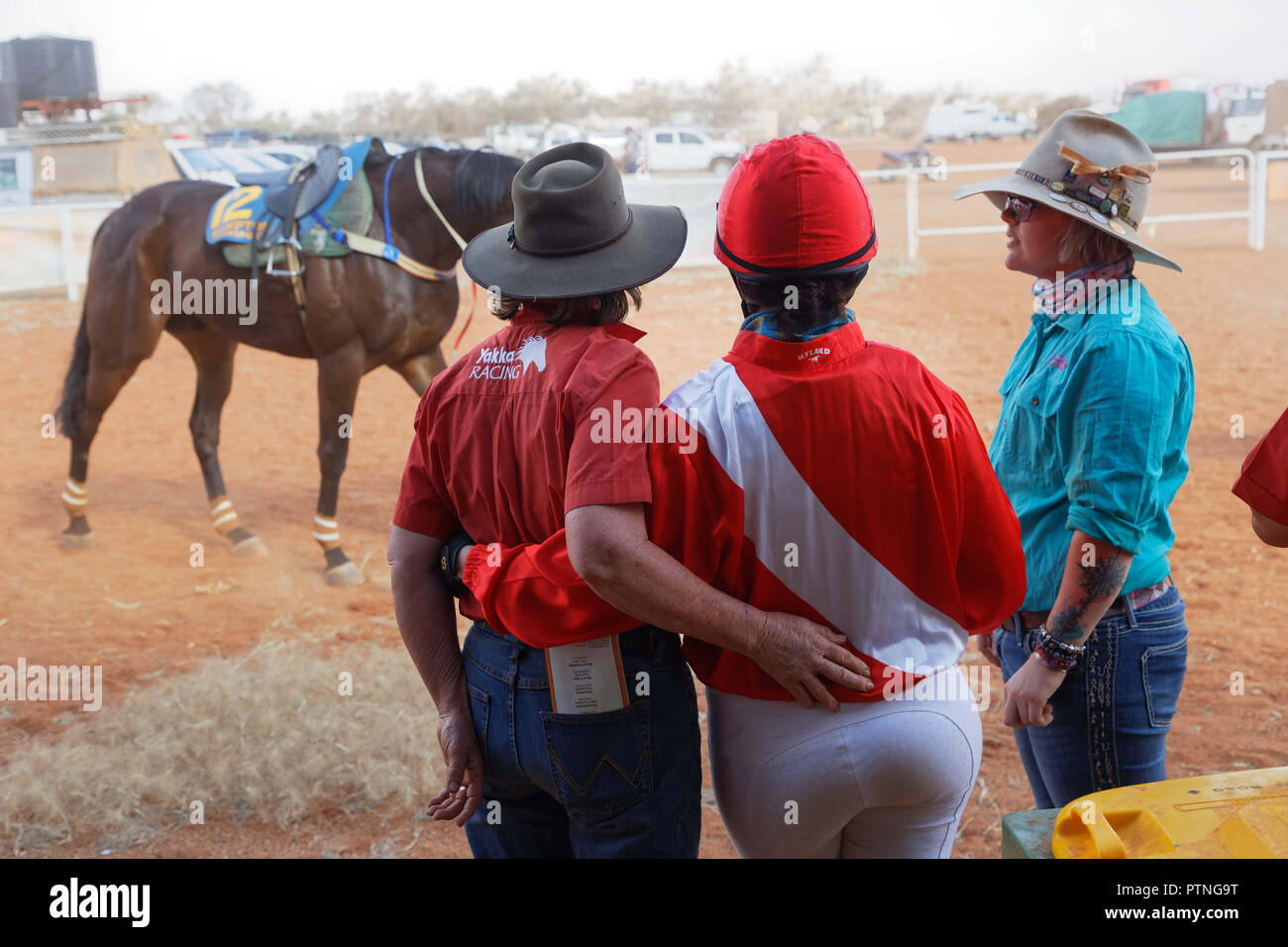 Landor,Station,Outback,Jackaroo,Aussie,horse,Australia,stockman,Austra - Stock Image