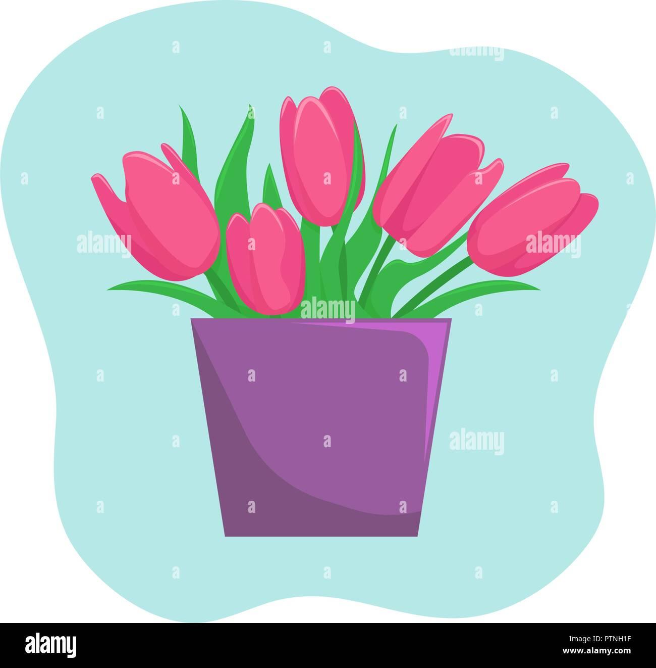 Bouquet Spring Flowers Cartoon Icon Stock Photos Bouquet Spring