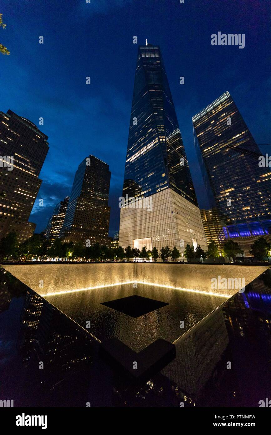 9/11 Memorial. World Trade Center. New York City, U.S.A. - Stock Image