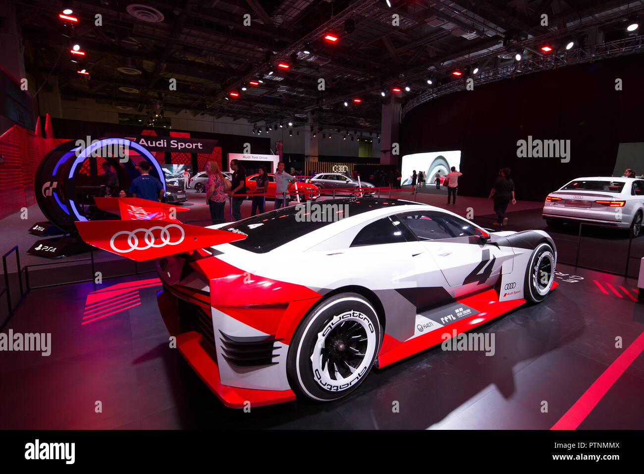 Audi Brand new experience 2018 happening in Singapore on 10 Oct 2018, Display of E-Tron Vision Gran Turismo car. - Stock Image