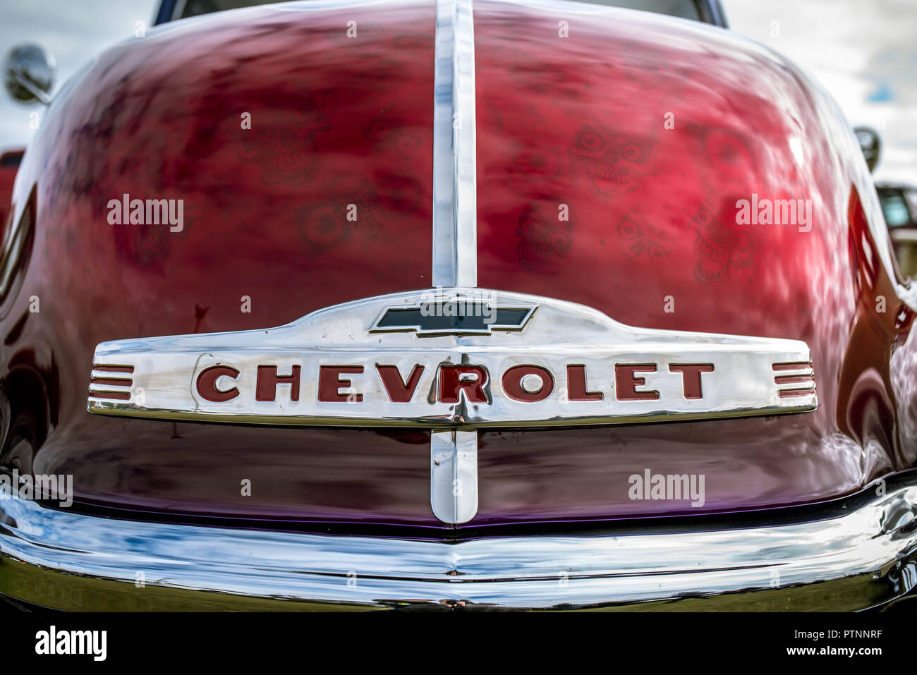 Chevy at Stonham Barns American Car Show 2018 - Stock Image