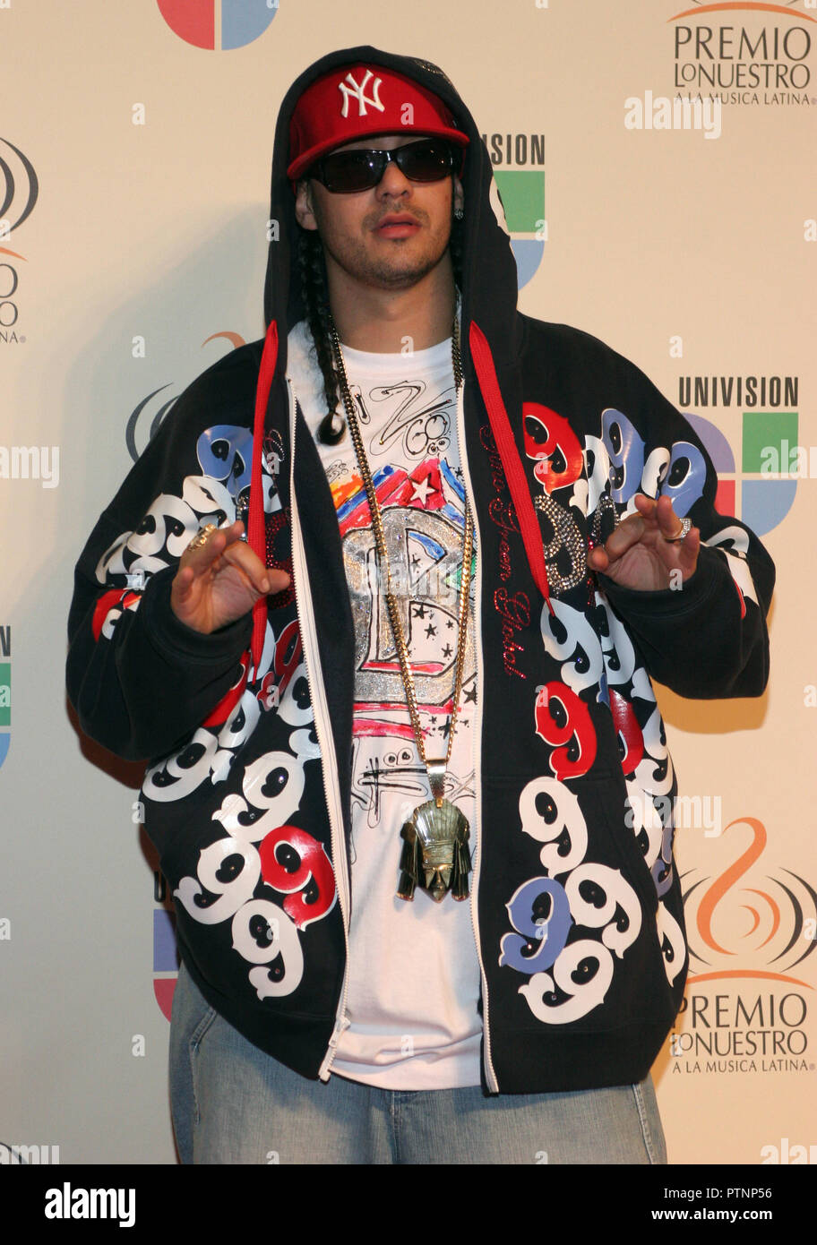Don Dinero  arrives on the red carpet prior to the 2007 Premios Lo Nuestro award show at the American Airlines Arena in Miami, on February  22, 2007. - Stock Image