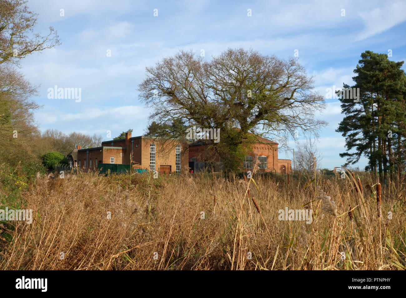 The former Essex and Suffolk Water Works, Horning - Stock Image