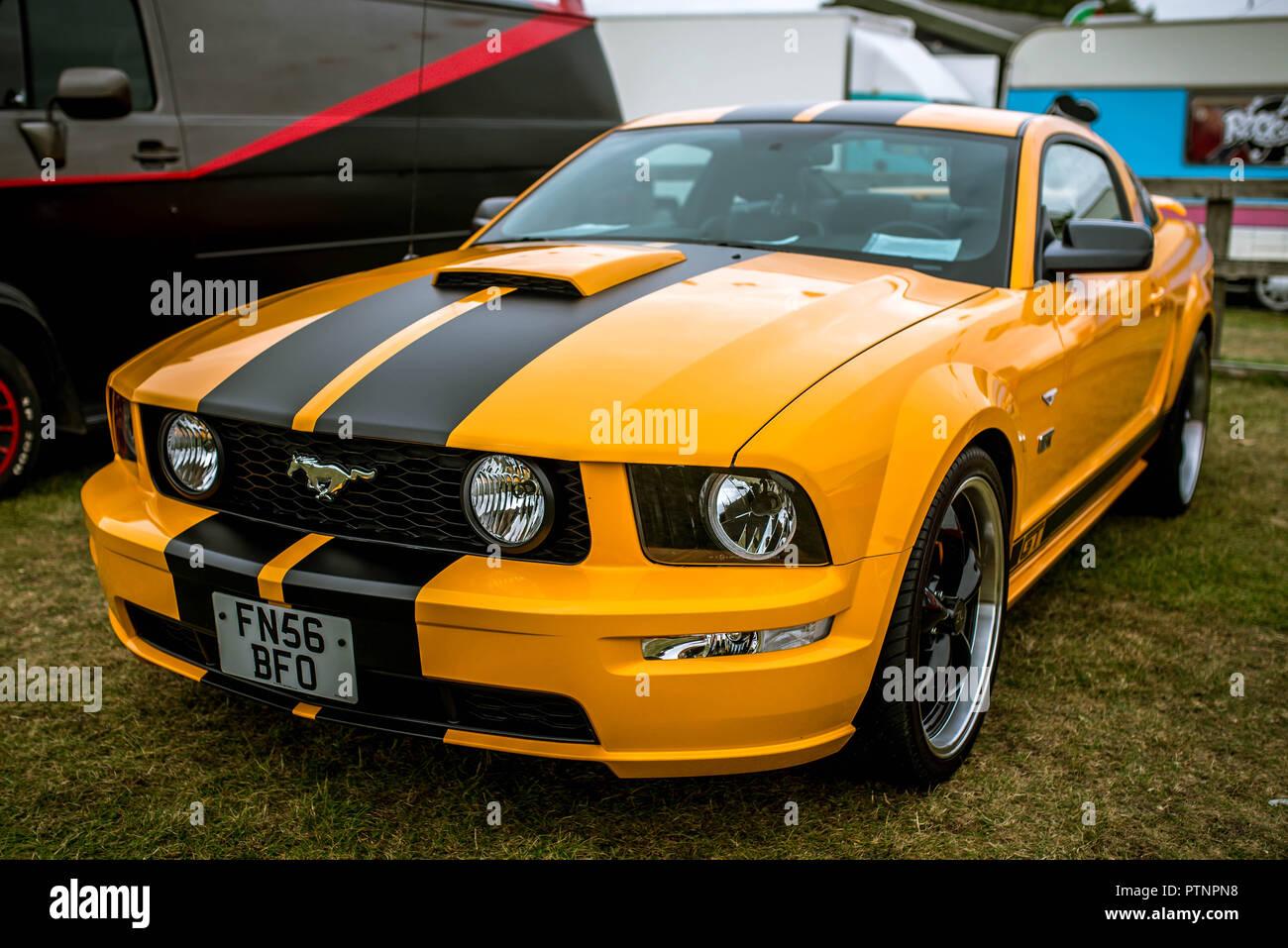 Ford Mustang at Stonham Barns American Car Show 2018 Stock Photo