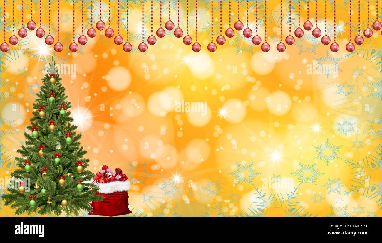illustration christmas and new year celebration background