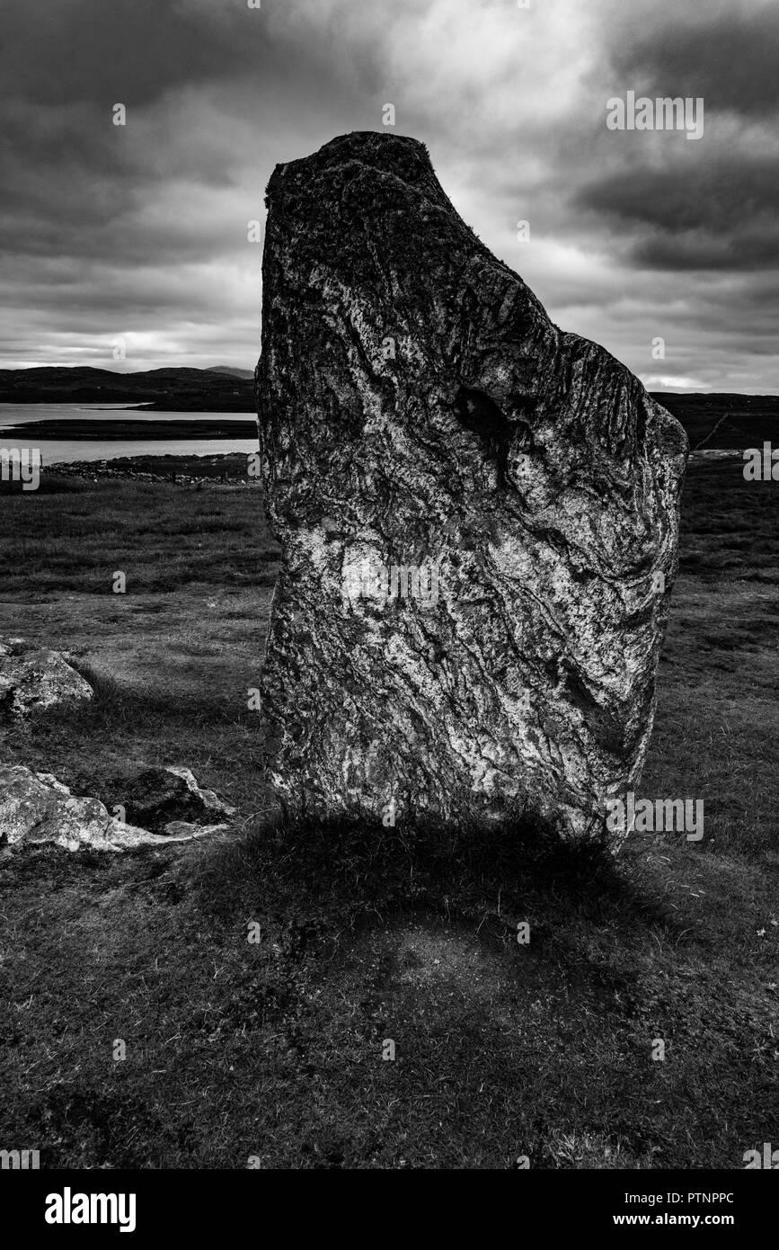 Calanish Stone, Outer Hebrides, Scotland. - Stock Image