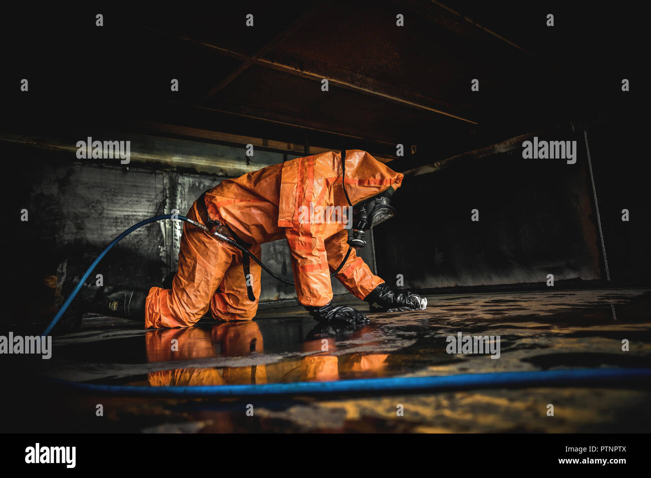 tank cleaning - Stock Image
