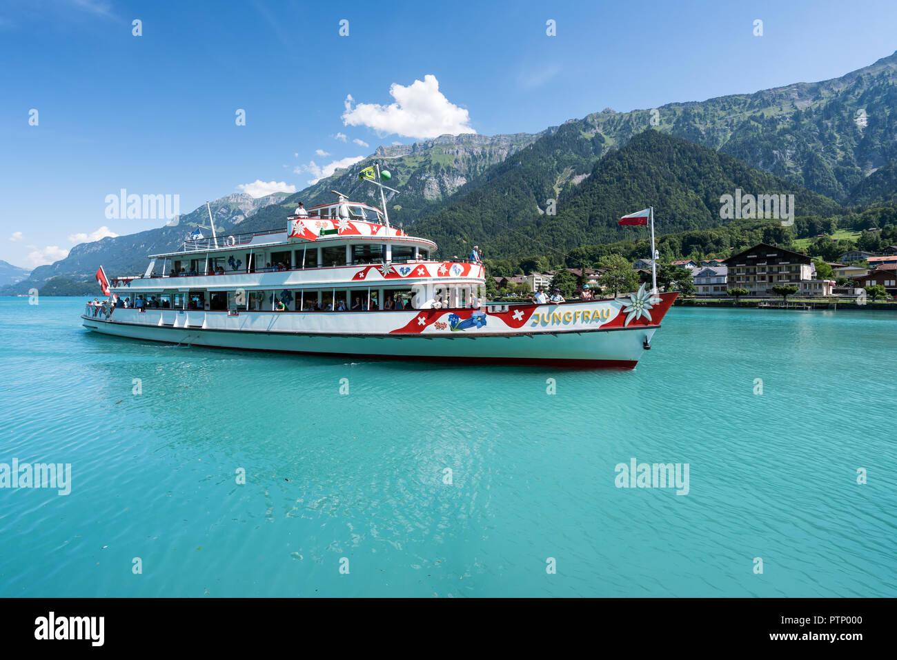 Cruising at Lake Brienz, Switzerland - Stock Image