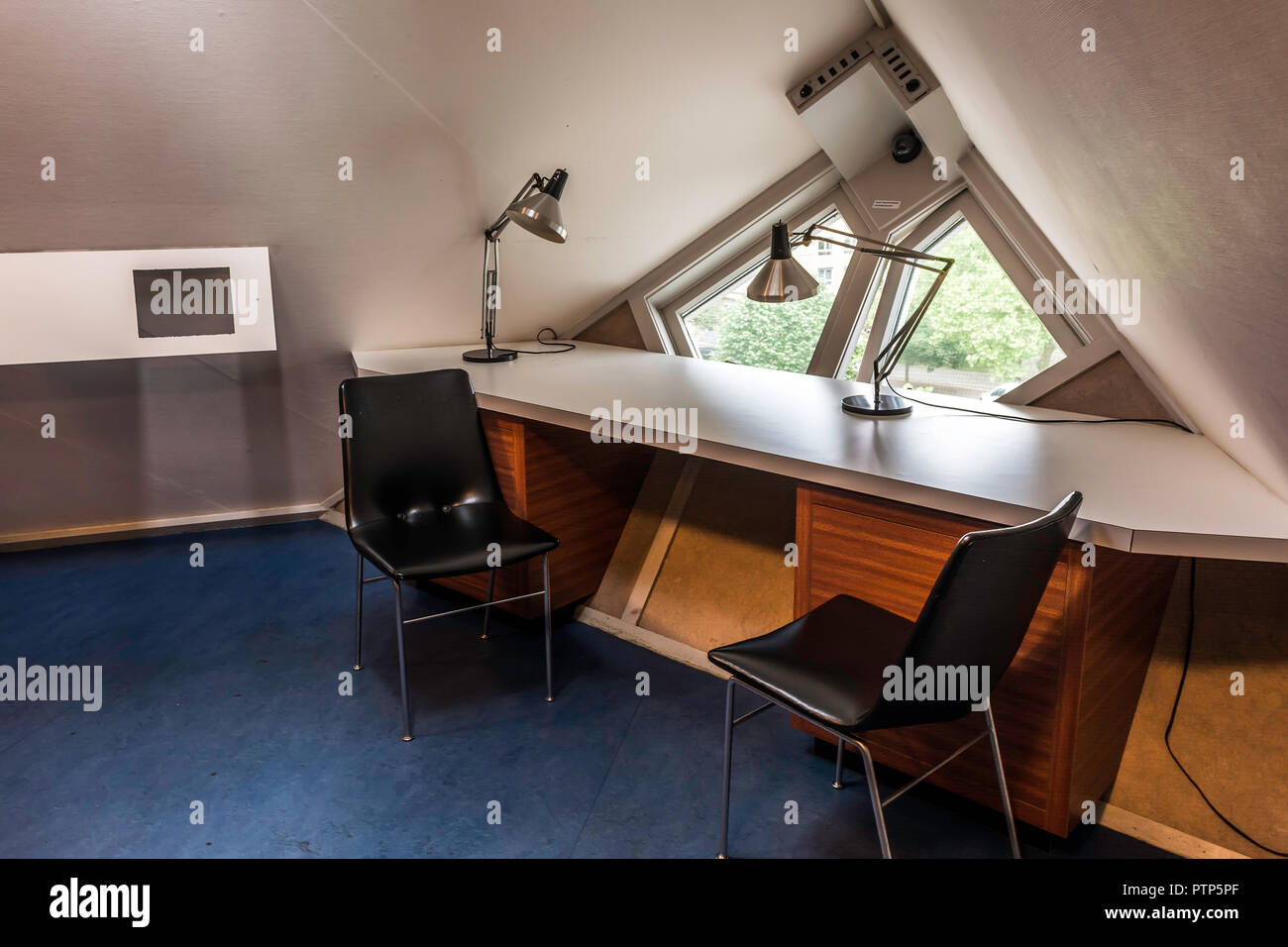 Room in The Kijk-Kubus (Show-Cube) - a furnished museum house, designed and constructed for the visitors - Stock Image