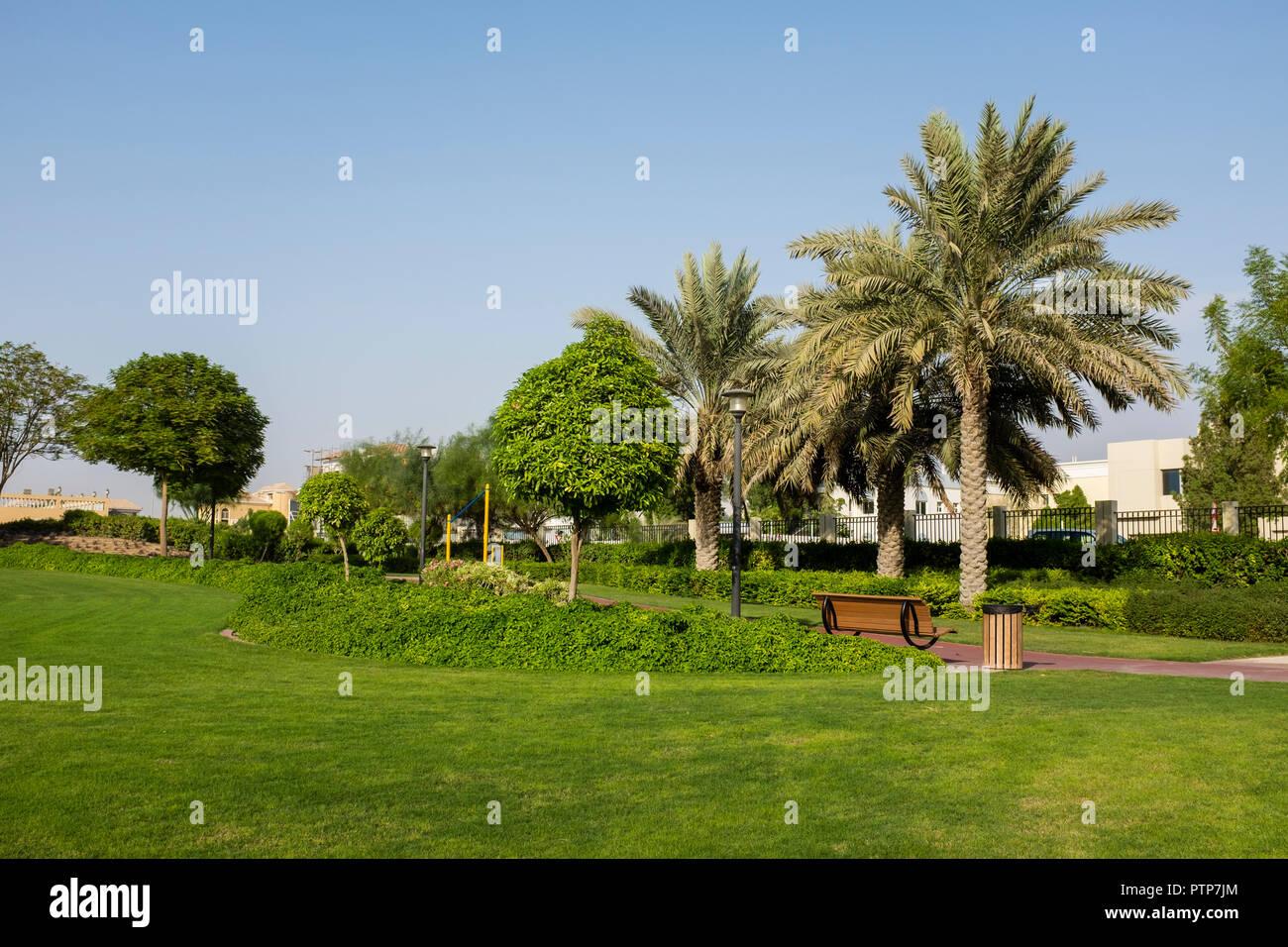 Uptown Mirdiff Park in the Mirdiff district of Dubai, UAE - Stock Image