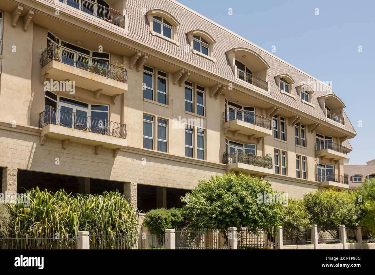 Residential apartments in the Mirdiff district of Dubai, UAE - Stock Image